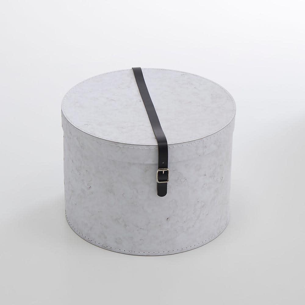 帽子収納ボックス大理石柄 2個セット[BIGSOBOX/ビグソーボックス]スウェーデン生まれの収納ボックス 2個組のうちの大きいタイプ