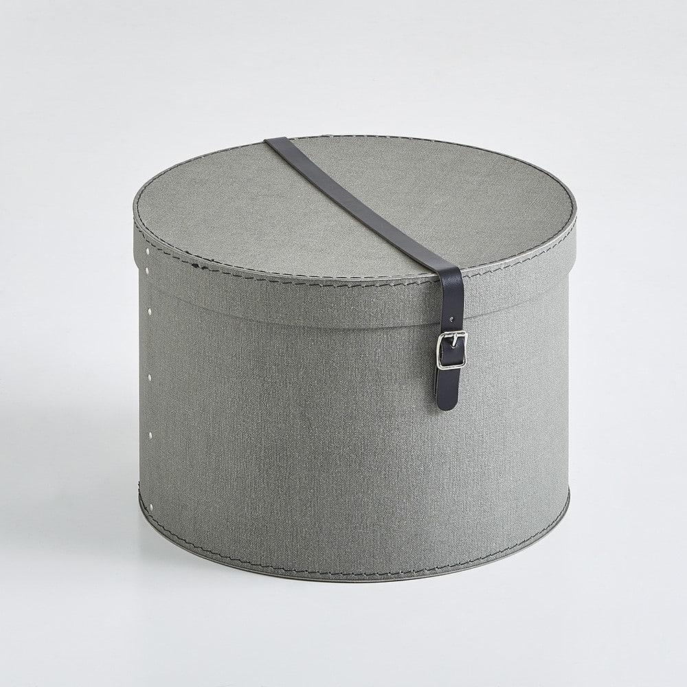 帽子収納ボックス 2個セット[BIGSOBOX/ビグソーボックス]スウェーデン生まれの収納ボックス (イ)グレー