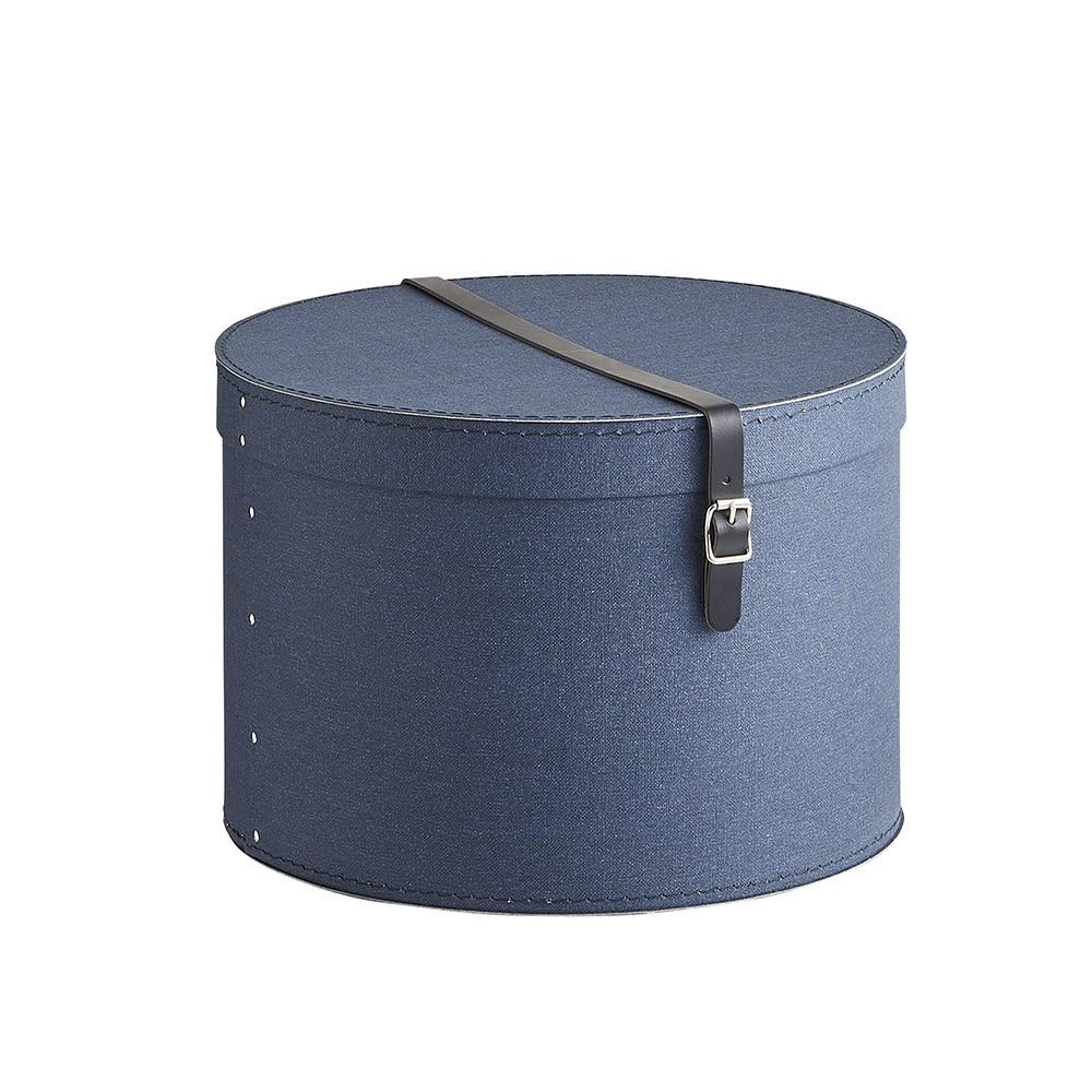 帽子収納ボックス 2個セット[BIGSOBOX/ビグソーボックス]スウェーデン生まれの収納ボックス (ウ)ネイビー・大