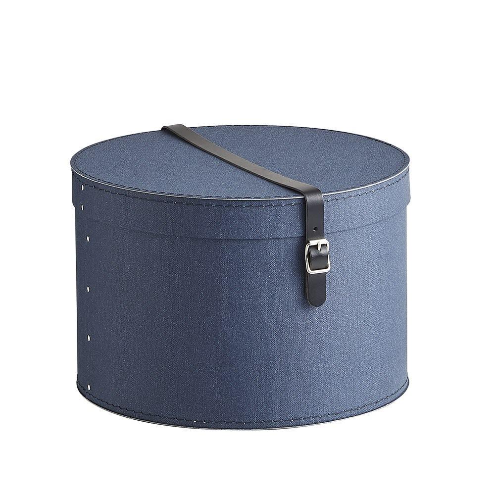 帽子収納ボックス 2個セット[BIGSOBOX/ビグソーボックス]スウェーデン生まれの収納ボックス (ウ)ネイビー・小