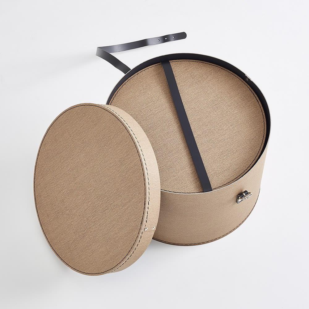 帽子収納ボックス 2個セット[BIGSOBOX/ビグソーボックス]スウェーデン生まれの収納ボックス 使わないときはひとつにまとめられます。