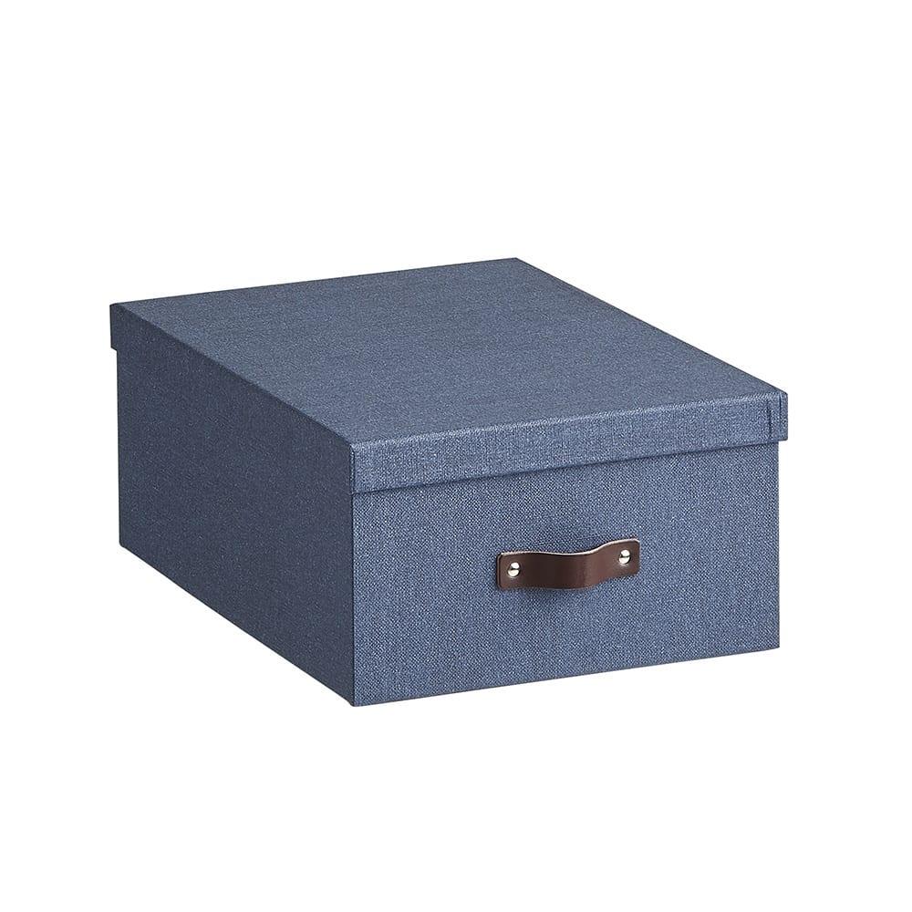 Sサイズ収納ボックス 2個セット[BIGSOBOX/ビグソーボックス]スウェーデン生まれの収納ボックス (ウ)ネイビー・大