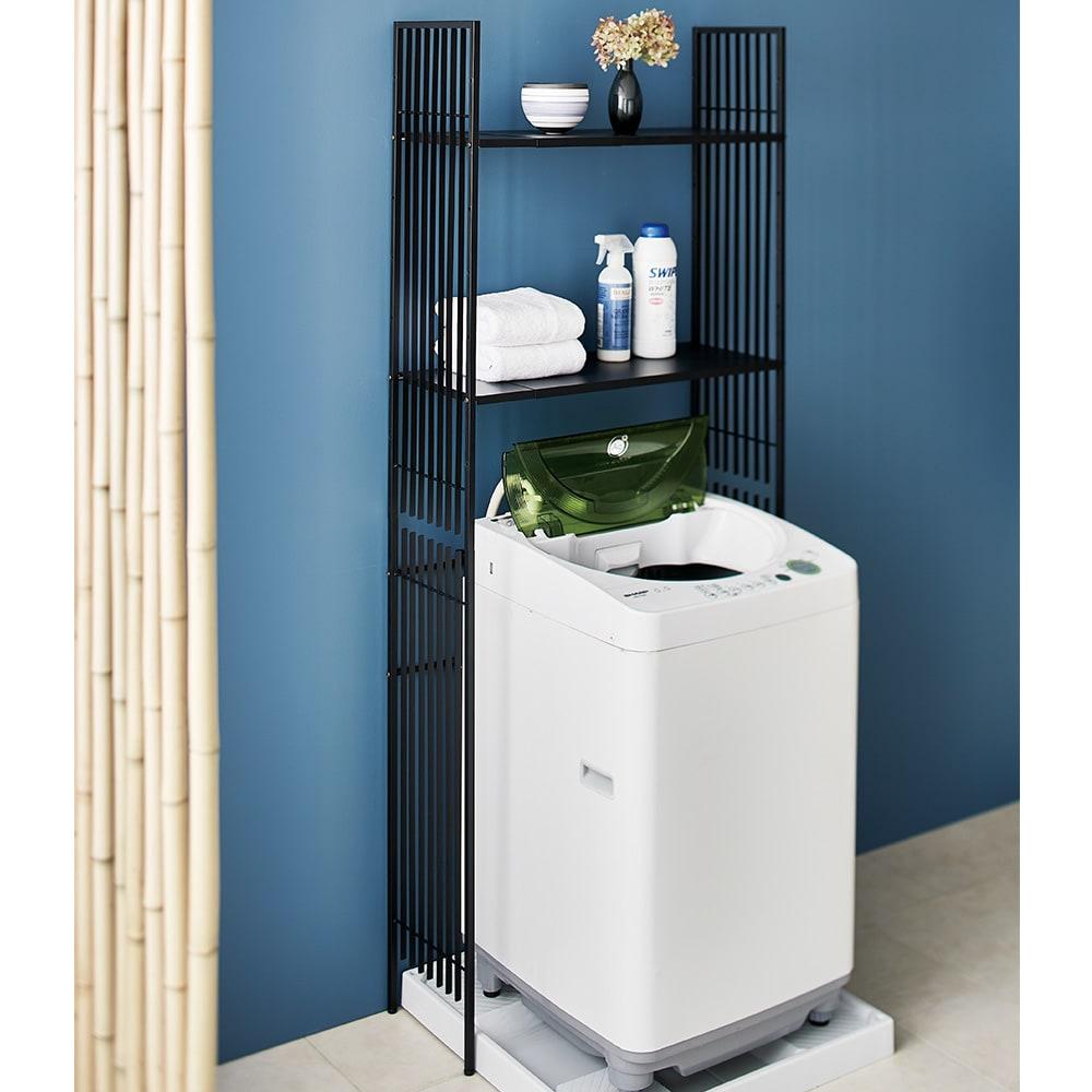 Hanji/ハンジ 格子ランドリー 棚2 洗濯機ラック・ランドリーラック