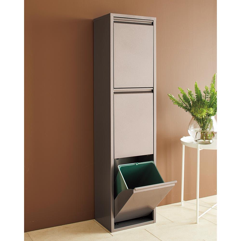 DOTTUS/ドッタス ダストボックス3段(3分別ゴミ箱)幅34cm奥行24cm高さ136cm こだわりのイタリア製ダストBoxでスマート&スタイリッシュにゴミ分別。3段タイプが新登場。
