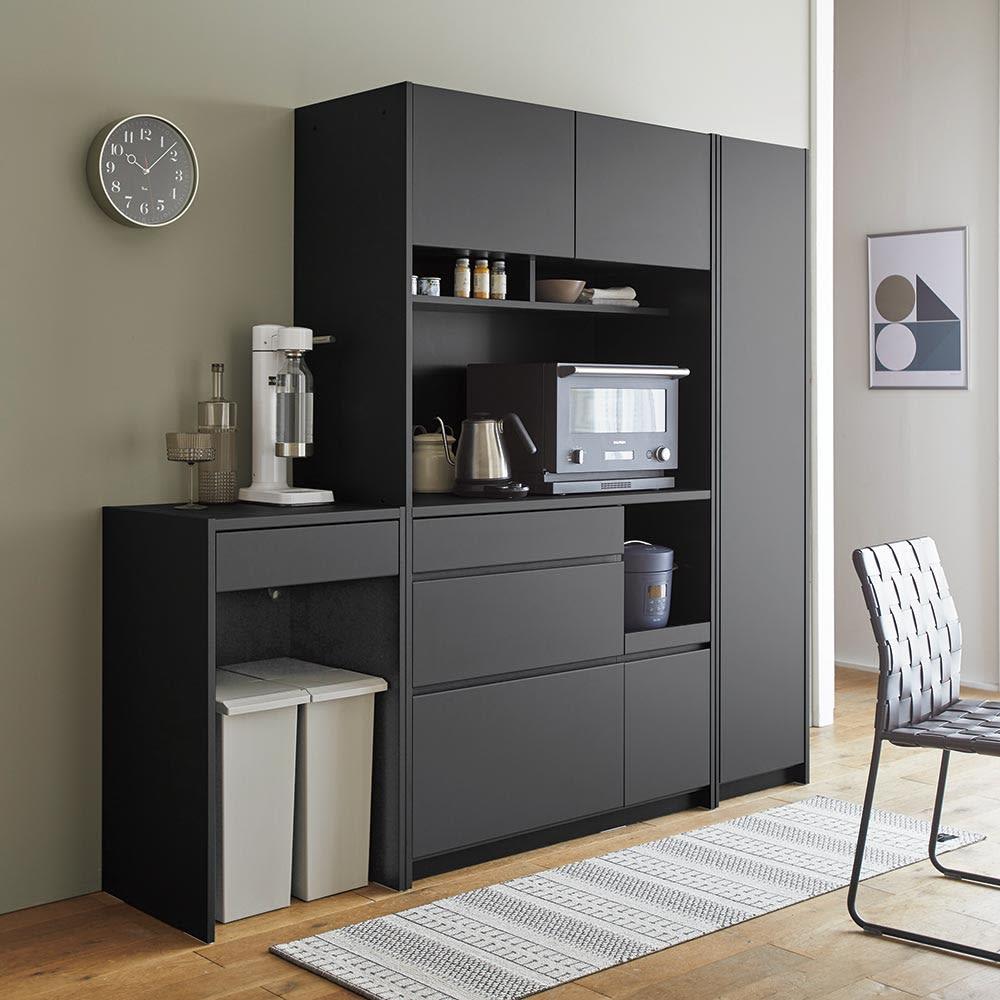 Enkel/エンケル キッチンシリーズ 幅52cm オープンカウンター マットグレー キッチンカウンター・カウンターワゴン