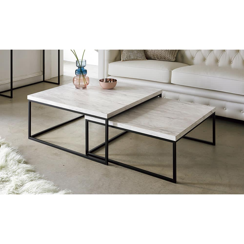 Marbrim/マーブリム 大理石調テーブルシリーズ ネストセンターテーブル ネストテーブル