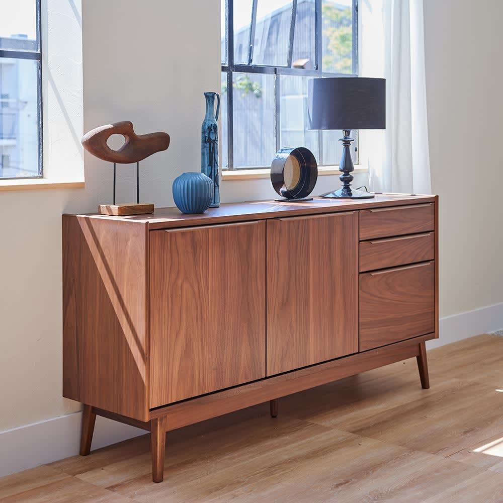 Jalka/ヤルカ ウォルナットシリーズ キャビネット 幅160cm 世代を超えて愛される北欧風家具デザイン。