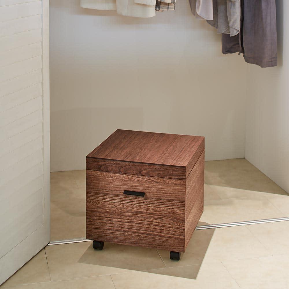 Apilar/アピラ 桐製収納ボックス 奥行45cm 1段 ブラウン 桐たんす(桐タンス)