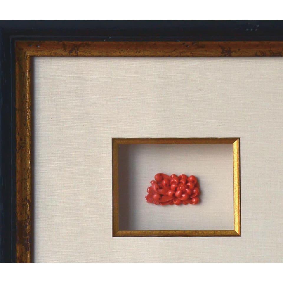 大倉珊瑚店/ユキコ・オオクラ  珊瑚 彫板 乱菊 薔薇 「彫り板」と呼ばれるジュエリー加工前の細工物。額装しても素敵です。 ※写真は参考画像です。