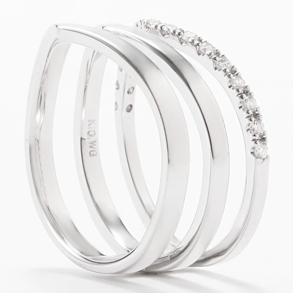 K10 0.15ctダイヤ デザインリング