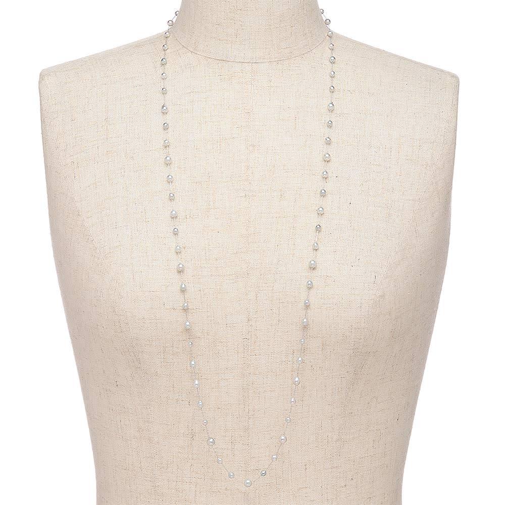エリタージュ アコヤ ナチュラルグレー ベビーパール ネックレス 着用例