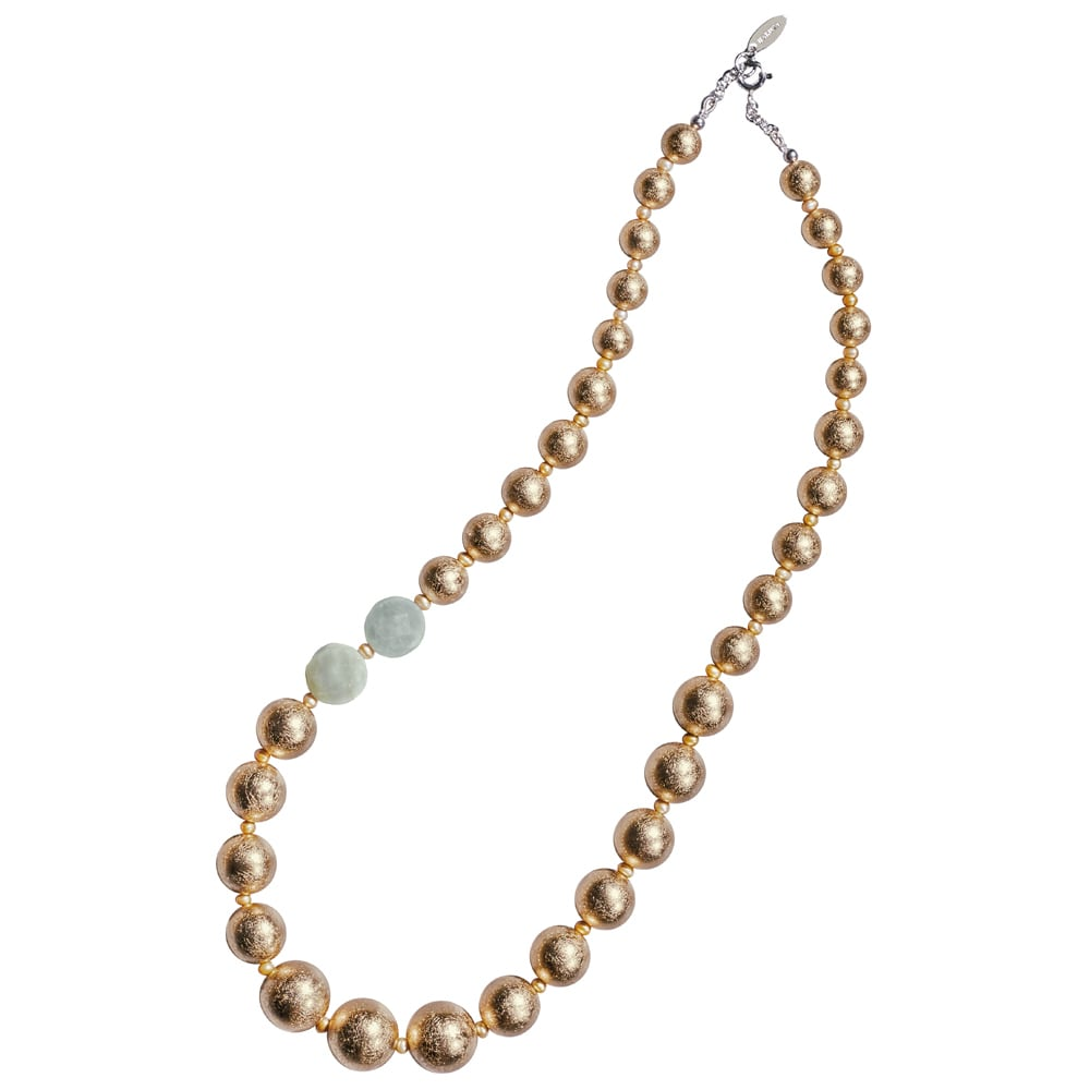 HAKUZA/箔座 箔珠 ネックレス(久遠色) レディース ゴールド製
