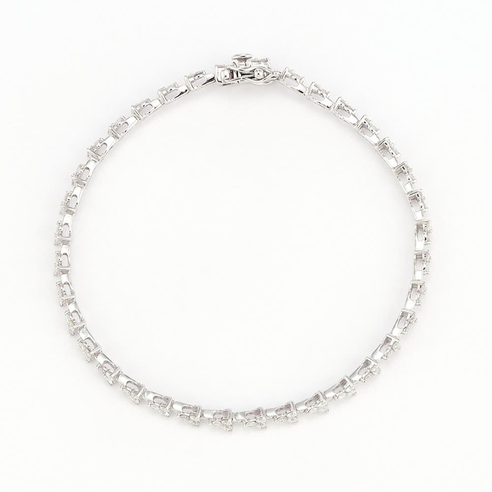 K18WG 2ctダイヤ ブレスレット