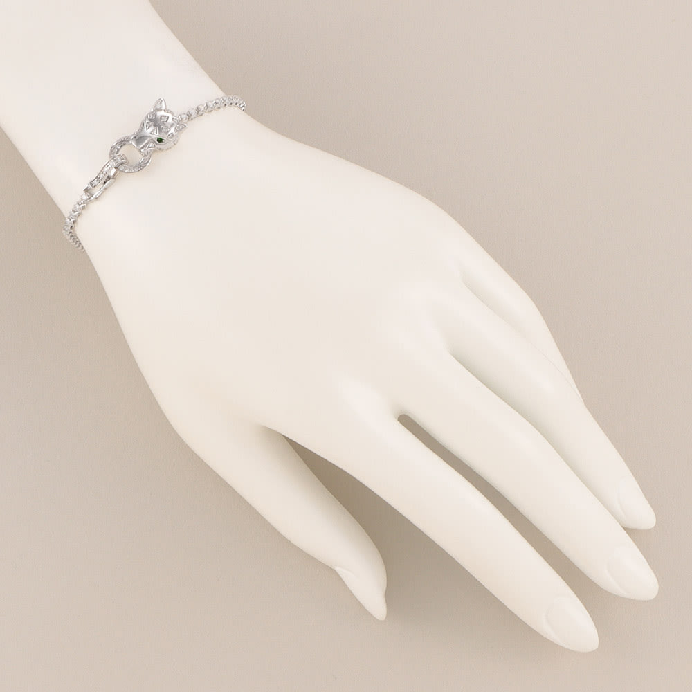 K18 1ctダイヤ アニマルモチーフ ブレスレット (ア)WG 着用例