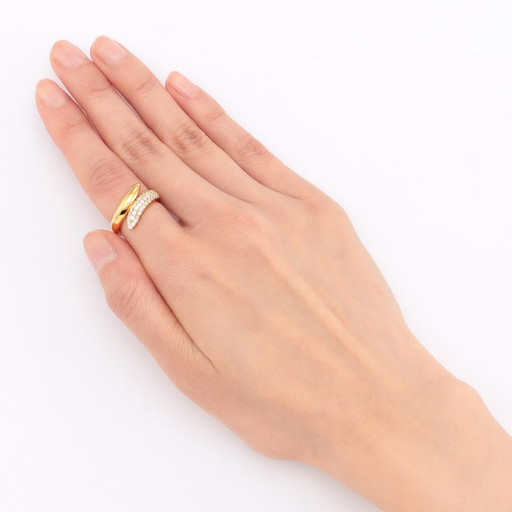 K18 ダイヤ フィットリング 【0.5ct】(ア)YG 着用例