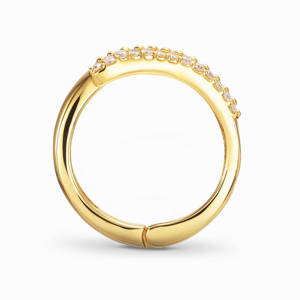 K18 ダイヤ フィットリング 【0.3ct】(ア)YG