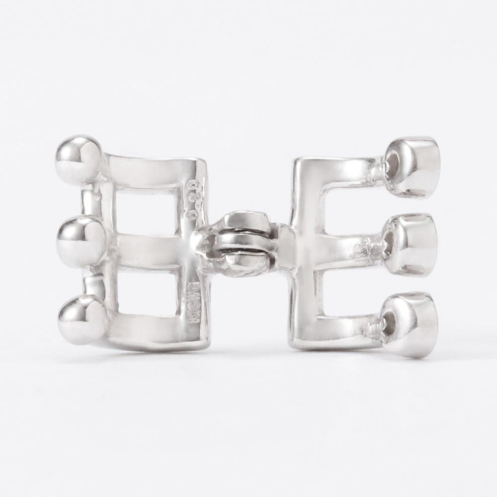 K18 ダイヤ・パール イヤーカフ(片耳) 挟み込み式