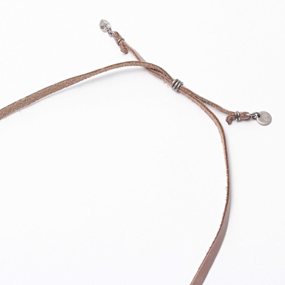 ATELIER METARINA/アトリエ メタリナ レザー使い ロングデザイン ネックレス かぶり式