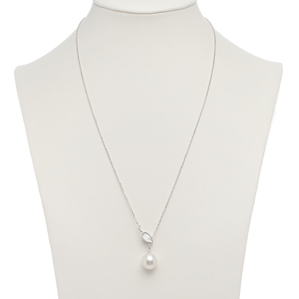 SV 11mm白蝶・黒蝶バロックパール クリップ式ペンダント (ア)白蝶真珠