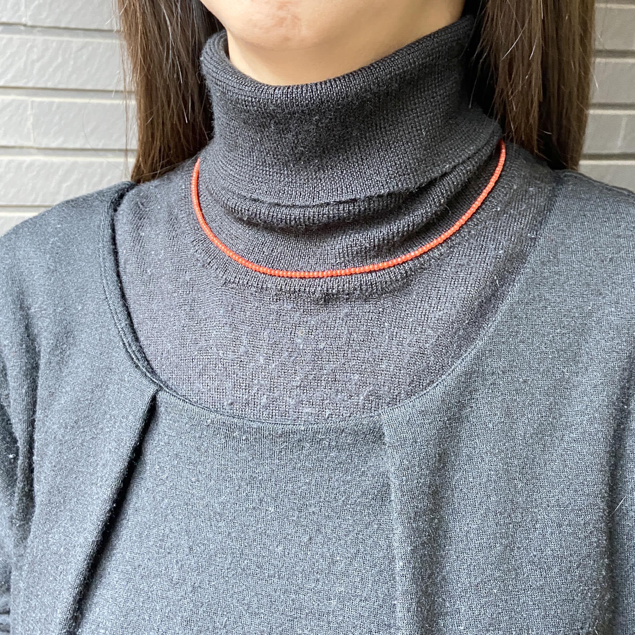 YUKIKO OKURA/ユキコ・オオクラ K10 地中海珊瑚 ネックレス 着用例