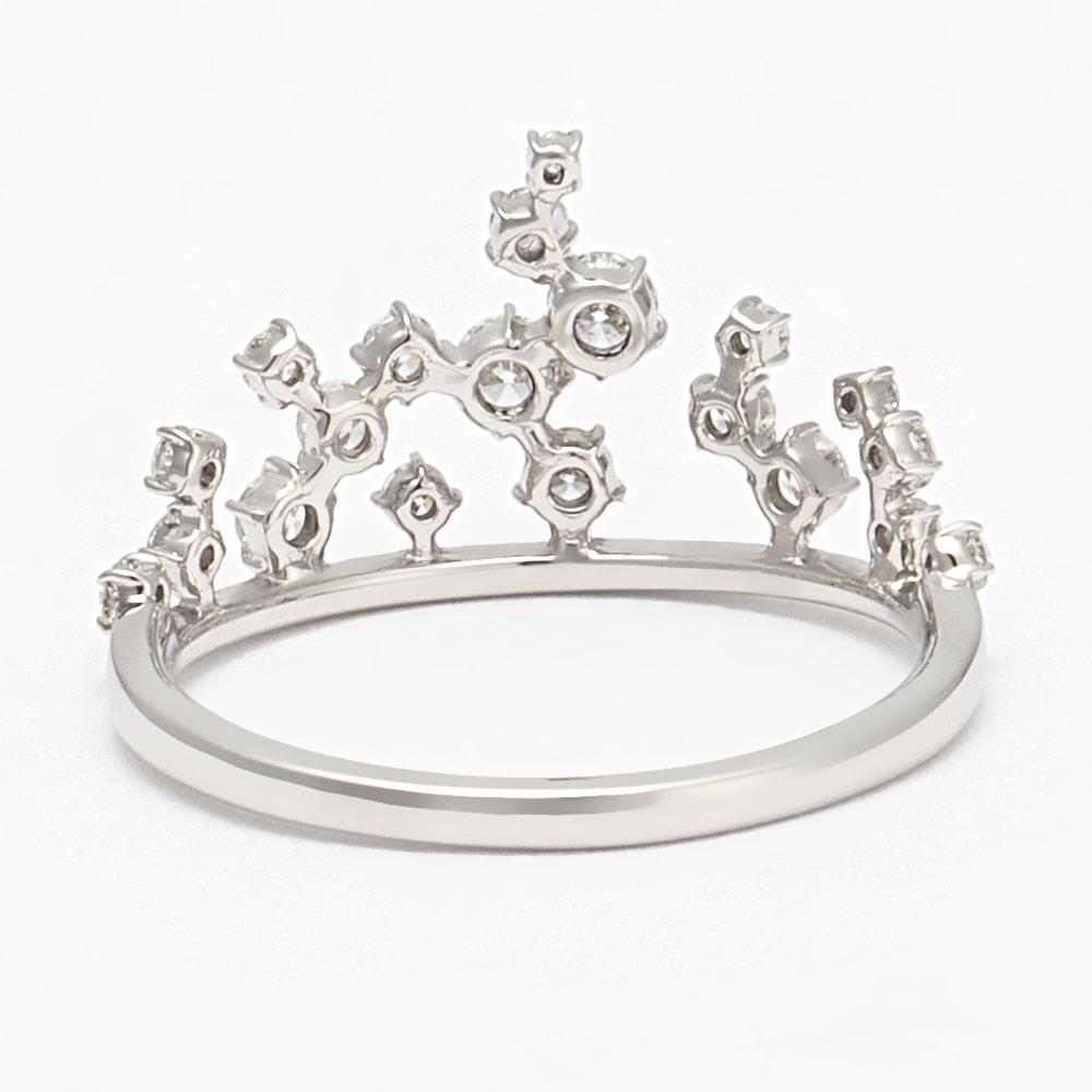 タイムレスプラチナ 0.37ctダイヤ デザイン リング INSIDE