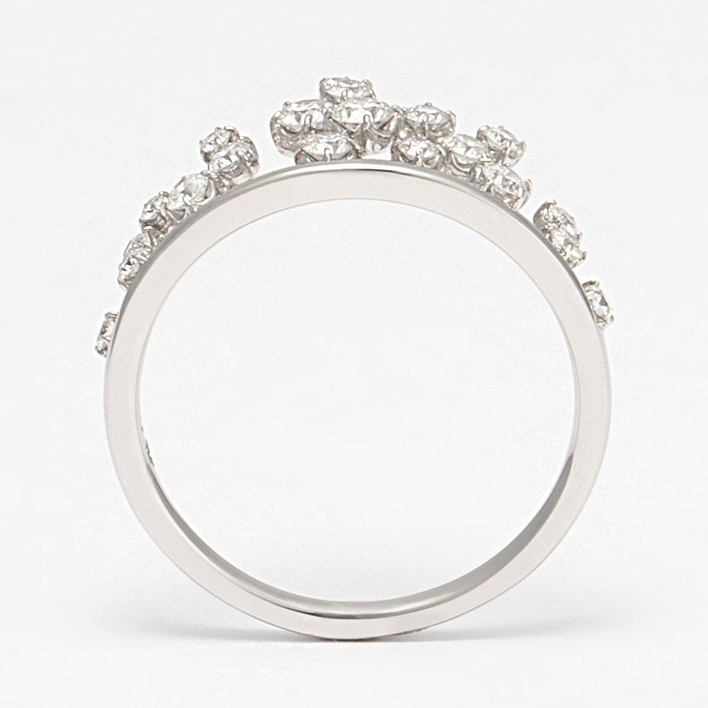 タイムレスプラチナ 0.37ctダイヤ デザイン リング