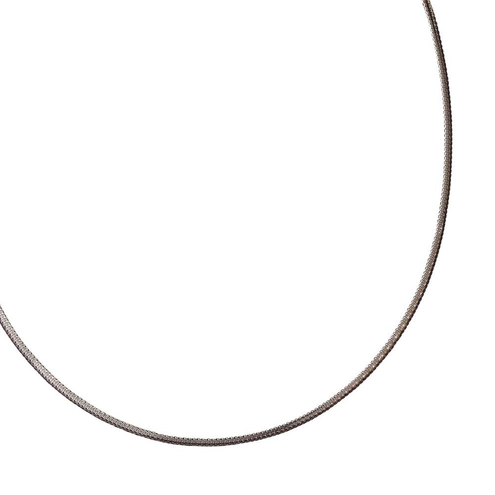 UNOAERRE/ウノアエレコラボ K18 リバーシブル オメガネックレス ホワイト面