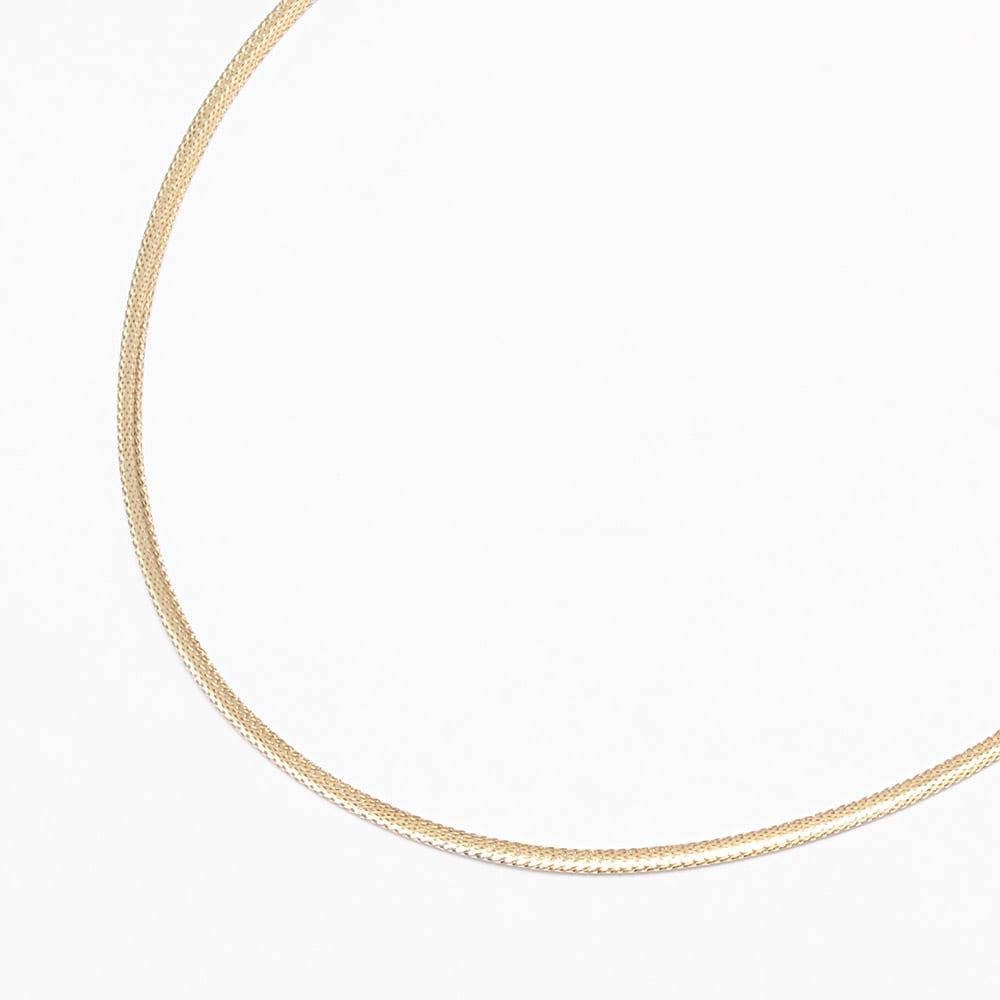 UNOAERRE/ウノアエレコラボ K18 リバーシブル オメガネックレス ゴールド面