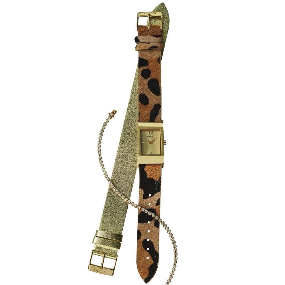 moog/ムック カルトポワン(チェンジベルト)(フランス製) (ア)ゴールド×レオパード ※ブレスレットは別売りです。