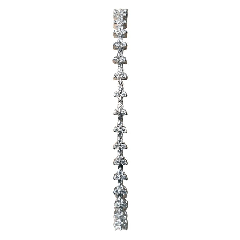 K18WG 2ctダイヤ ブレスレット レディース 16~18 ブレスレット・バングル