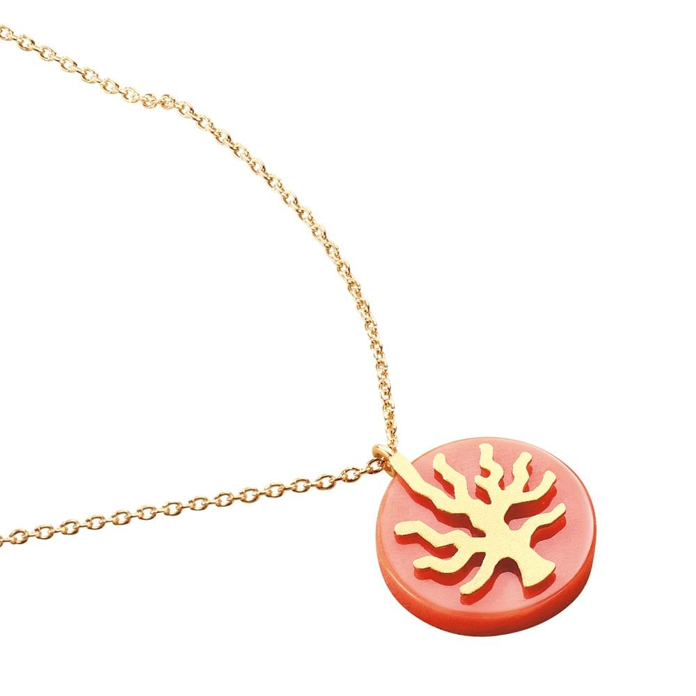 YUKIKO OKURA/ユキコ・オオクラ K18 モモイロ珊瑚 枝柄 ペンダント レディース ネックレス・ペンダント