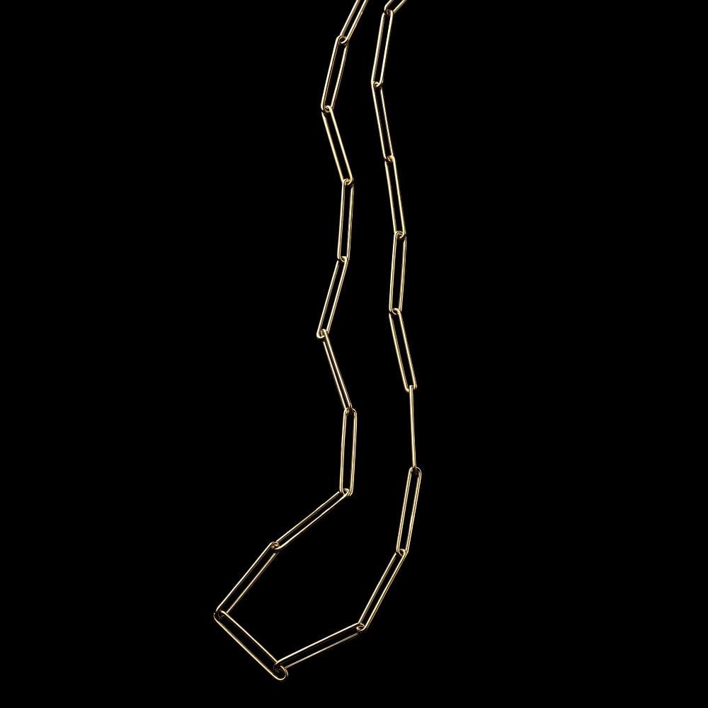 【59.5cm】 UNOAERRE/ウノアエレコラボ K18 クリップ ネックレス レディース ネックレス・ペンダント