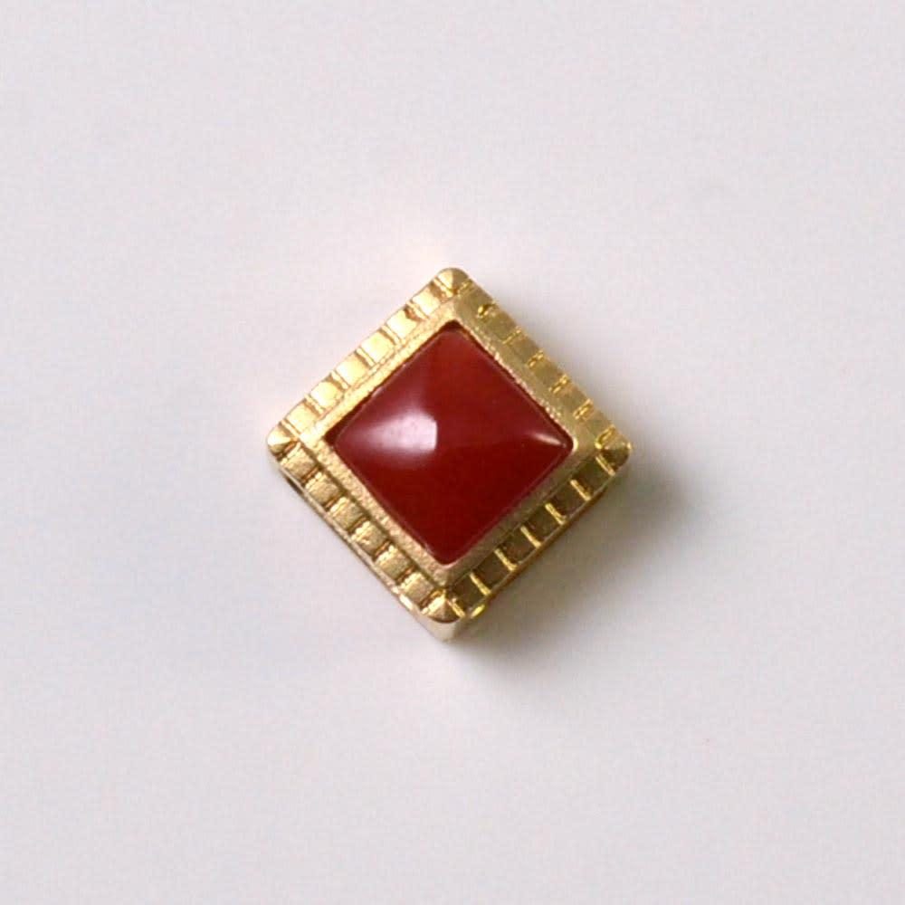 YUKIKO OKURA/ユキコ・オオクラ K18 血赤珊瑚 ペンダントヘッド レディース ゴールド製