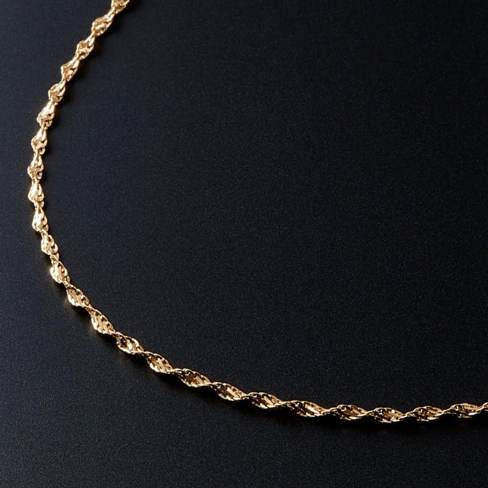 K18 デザインネックレス 42cm レディース ネックレス・ペンダント