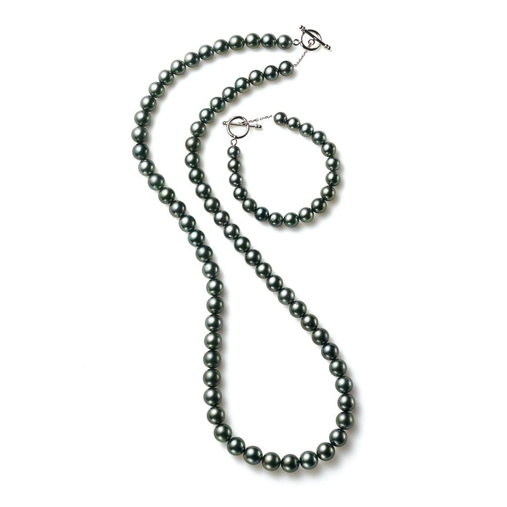 エリタージュ 黒蝶パール コンバーチブル ネックレス 70cm+19cm