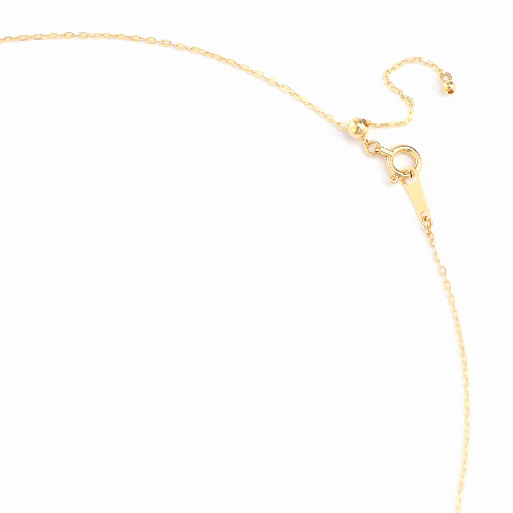 K18 0.5ctダイヤ ミツバチ ペンダント スライドアジャスター