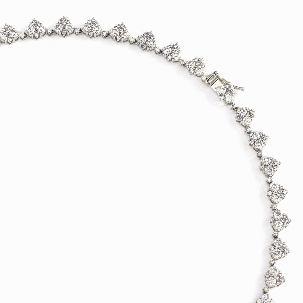 Pt 10ctフルダイヤ デザイン ネックレス 差込式(セーフティ付き)