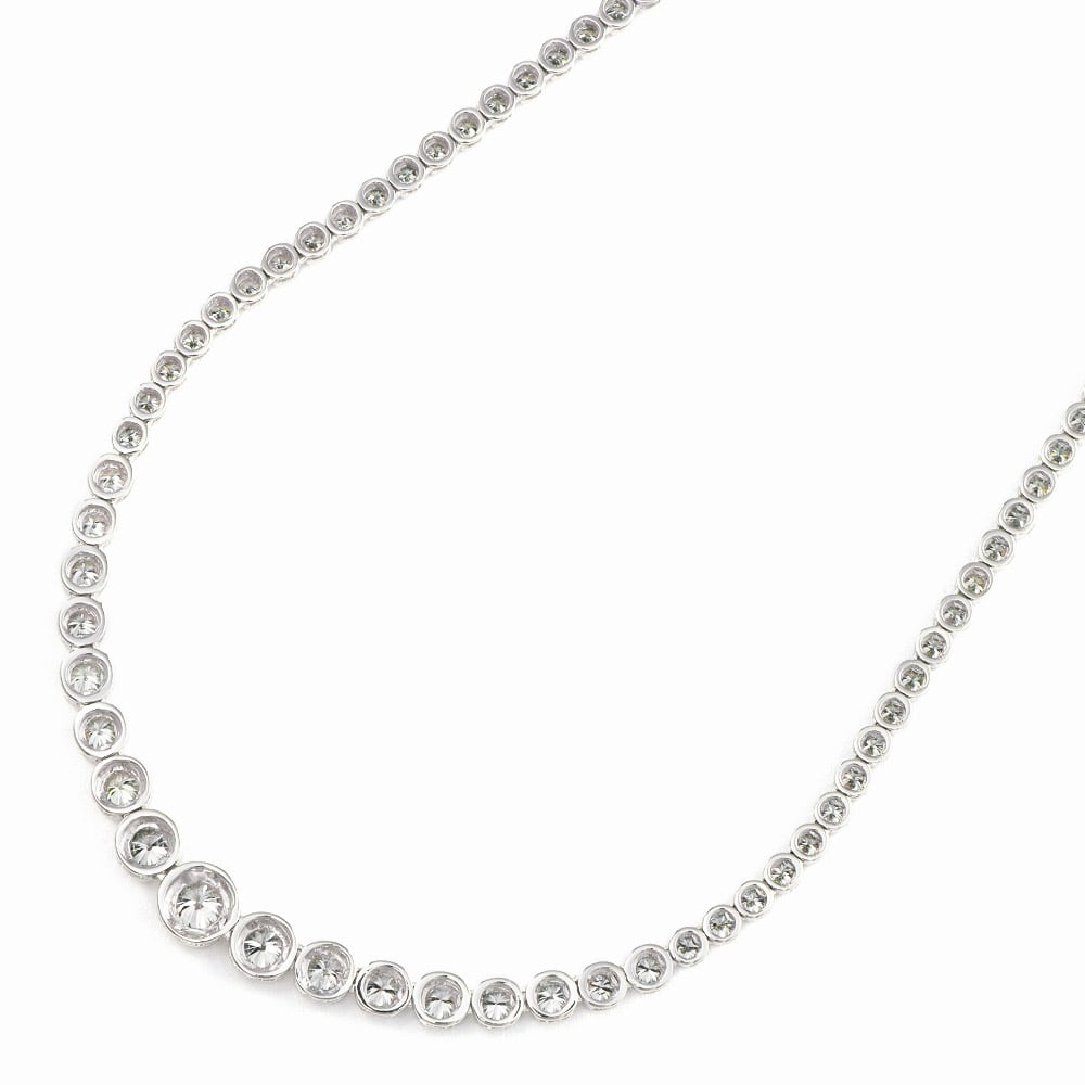 K18WG ダイヤグラデーション フルネックレス 【7.5ctダイヤ】BACK