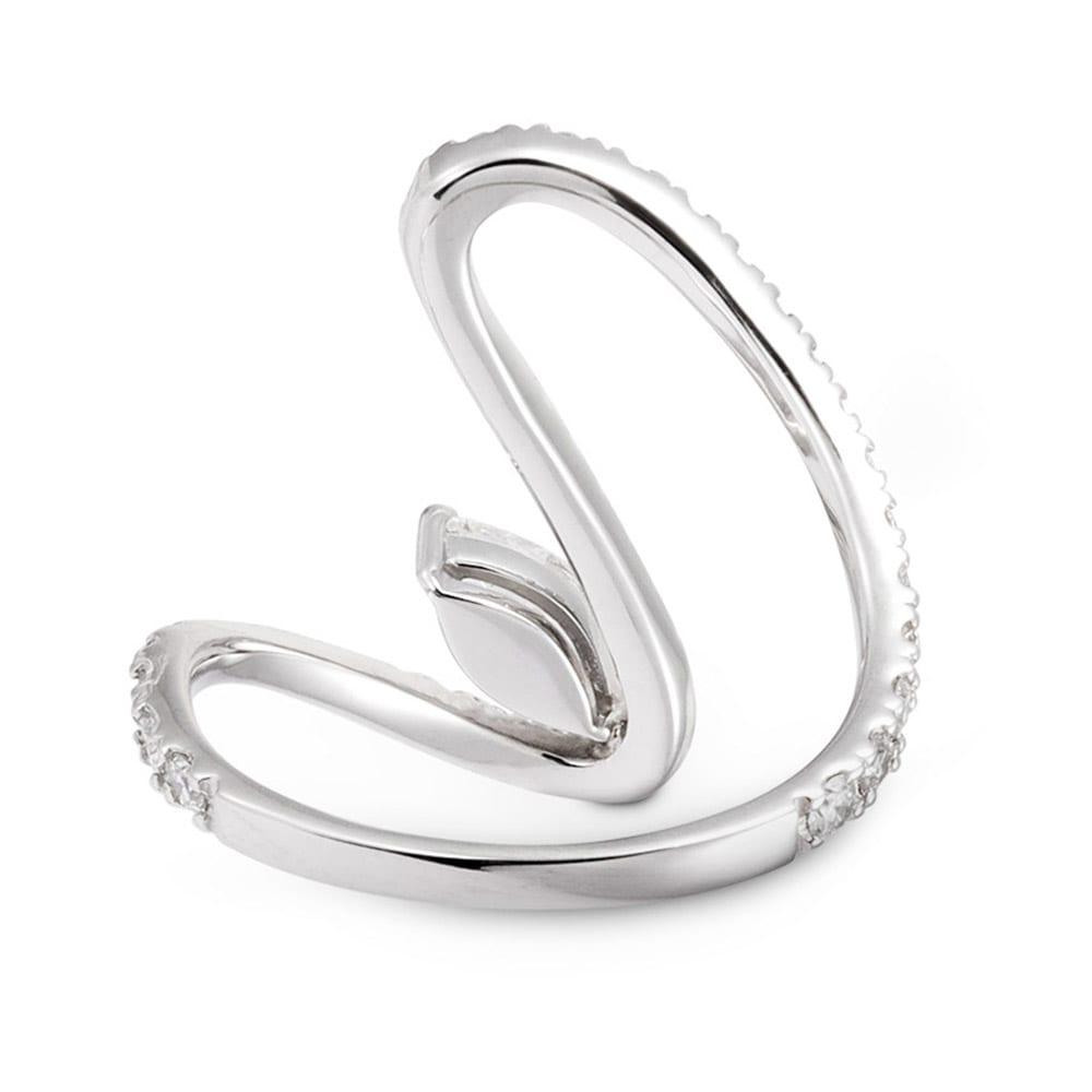 Pt 0.3ctマーキスダイヤ デザイン リング INSIDE