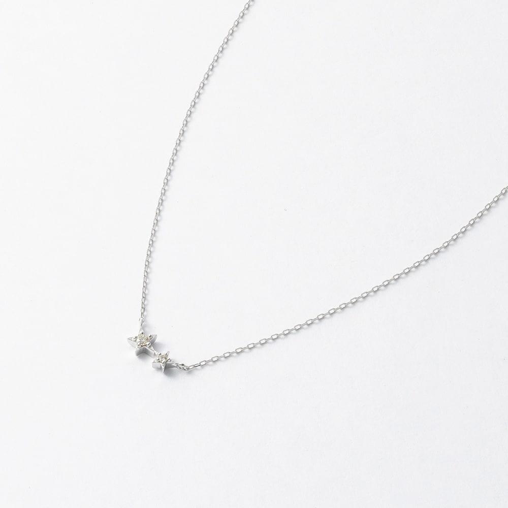 K10 ダイヤ スターペンダント (イ)WG(web限定色)