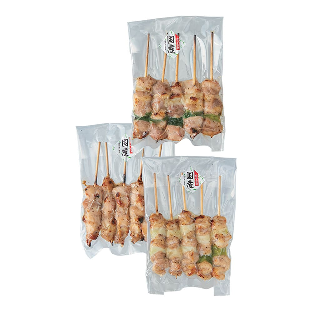 国産鶏の焼き鳥セット 塩 (30本) 塩