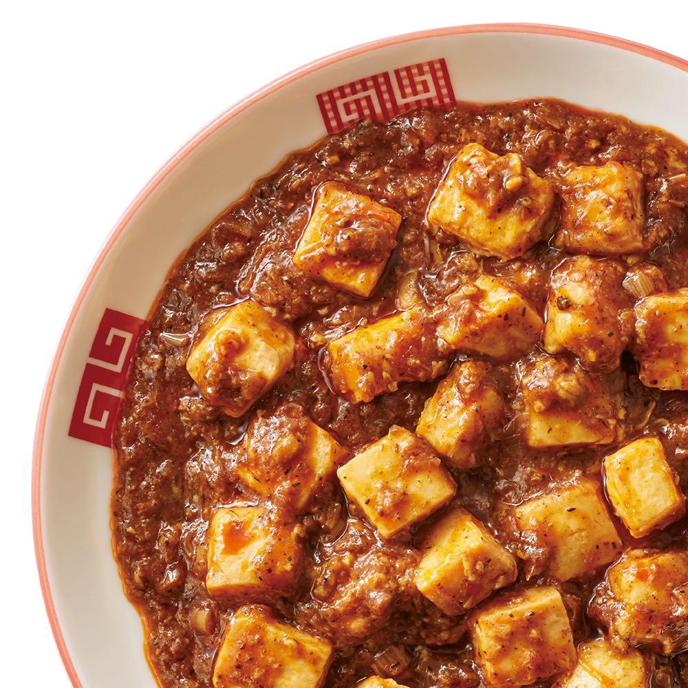 陳建一 本格四川麻婆豆腐 (150g×6袋) 【盛り付け例(3袋分)】山椒が効いた麻婆豆腐はご飯にかけるとおいしさが倍増。