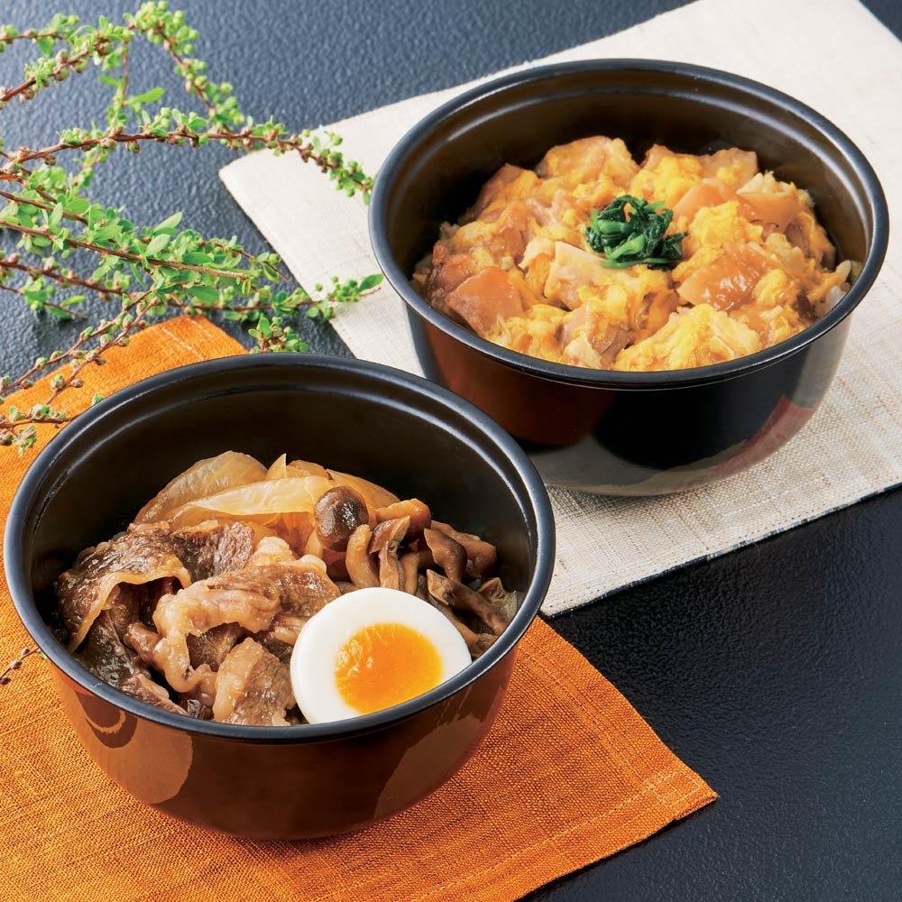 「祇園さゝ木」 親子丼&牛すき煮丼セット (2種計5食) 【盛付例】