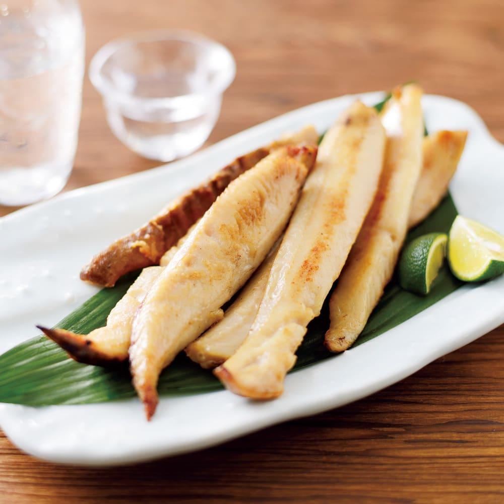 北海道産 パクパクスティック姫ほっけ (1kg) 調理例 スティック状がうれしい!何にでも使える便利品です!北海道の姫ホッケの身がギュッと凝縮したスティック干物です!