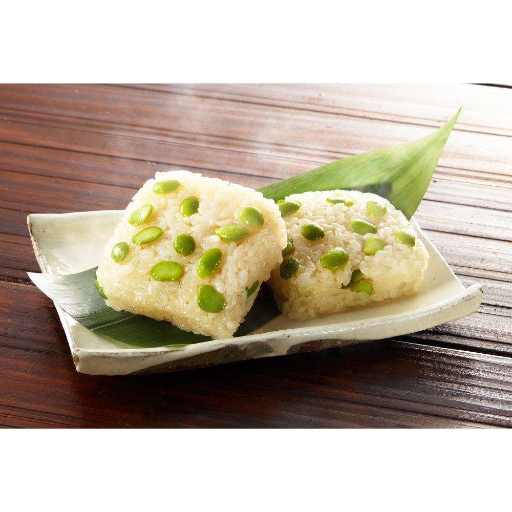だだちゃ豆のおこわ (70g×14個) 粘りの強いもち米のうまみともちもち感、豆の香ばしさをお楽しみください。