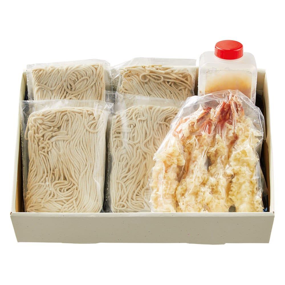 蕎麦「石はら」 国産石臼挽き二八蕎麦えび天付き  【通常お届け】 お届けパッケージ