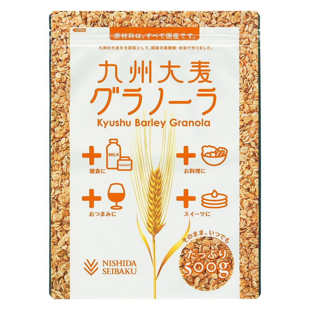 九州大麦グラノーラ (500g×4袋) 商品パッケージ