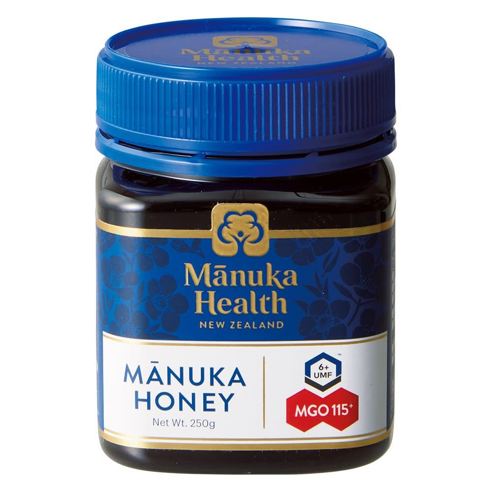 マヌカハニーMGO115+ (250g) 商品パッケージ