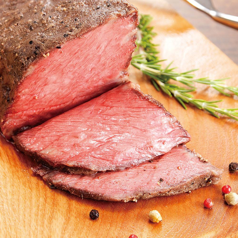 """白老牛ローストビーフ (300g)  【通常お届け】 ほど良く""""サシ""""が入り、牛の旨味が凝縮されています!"""