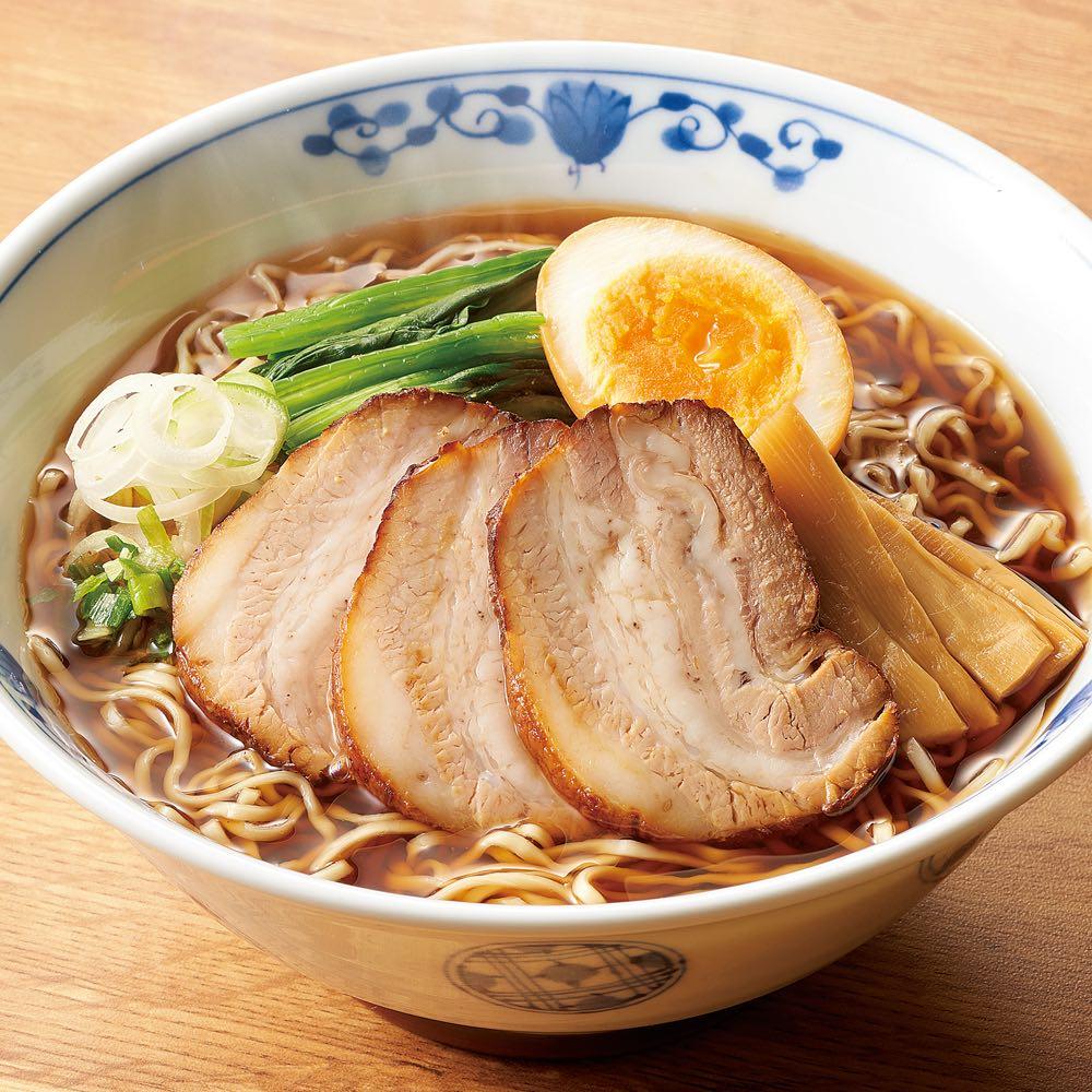 老舗「やよいそば」の懐かしい中華そば (6食) 【調理例】お店の味をストレーススープに、自家製焼豚付きはディノス限定!